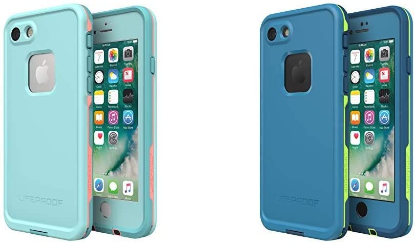 Lifeproof FRE Series Waterproof Case for iPhone 8 & 7 (ONLY) - Retail Packaging - Wipeout (Blue Tint w/Case for iPhone 8 & 7 (ONLY) - Retail Packaging - Banzai