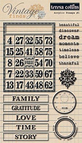Teresa Collins Designs Vintage Finds Stamps Set 1