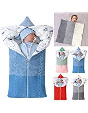 Baby Swaddle Blanket Stroller Wrap,Soft Thick Fleece Warm Blanket Newborn Sleeping Bag for 0-12 Month Boys Girls