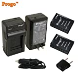 Progo Power Pack (Two Li-Ion Rechargeable Batteries and Pocket Travel AC/DC Wall Charger with Car Adapter & US to European plug) for Nikon EN-EL12, Coolpix S9300 S9100 S8200 S8100 S8000 S6300 S6200 S6150 S6100 S6000 S1000pj S1100pj S1200pj AW100 S610 S610c S620 S630 S640 S70 S710 P310 P300