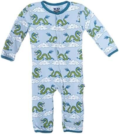 Kickee Pants Baby-boys Print Coverall (0-3M, Cloud Dragon)