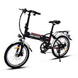 ANCHEER Folding Electric Bike with 36V 8Ah Removable Lithium-Ion Battery, 20 inch Ebike with 250W Motor and 7 Speed Shifter