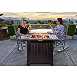 TACKLIFE 31.2 Inch Propane Fire Pit Table, 50000BTU