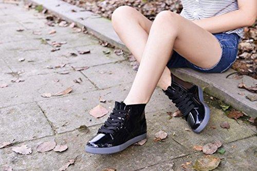 botas día corto negro moda Negro Cordones zapatos de parte Kuro amp; mujer lluvia color High superior lluvioso ardor Impermeable de tqwBcvUHz