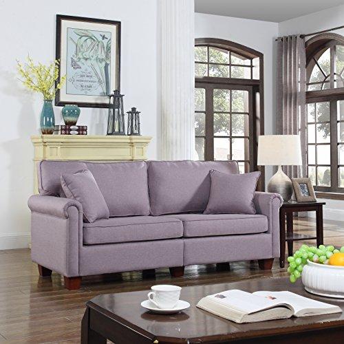 Classic 73 inch Living Linen Fabric