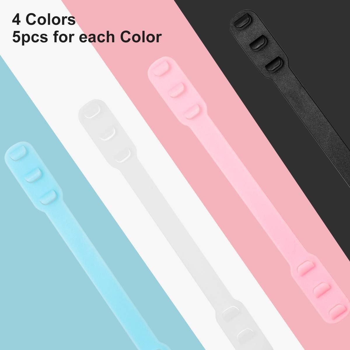 mit Einstellschnallen ZITFRI 20 St/ück Maske Extender verstellbare Maskenhaken Anti-Rutsch Ohrhaken Verl/ängerungsriemen f/ür Maske waschbar 4 Farben Maskenhalter gegen Ohrenschmerzen