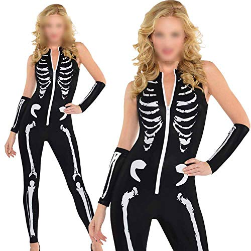 Halloween Women Bat Suit Halloween Scary Costumes Skull