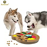Unique Shuffle Puzzle Smart Toy for Puppies - Improve Concentration - Reduce hyperactivity - Fun Interactive IQ Game to Hide Treats in - Encourage Mental & Physical Skills of Pets