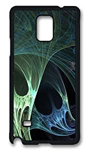 Samsung Galaxy Note 4 Case, Yellow Blue Abstract Art And Design Rugged Case Cover Protector for Samsung Galaxy Note 4 N9100 Polycarbonate Plastics Hard Case Black