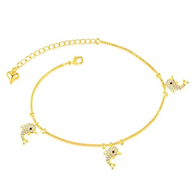 Onefeart Rose Gold Plated Anklet for Women Girls Twelve Constellation Bell Foot Chain 26.5CM TzsezFx9XS