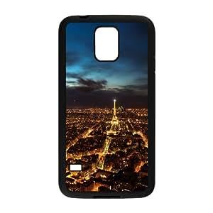 [Paris Series] Samsung Galaxy S5 Cases Paris City Lights, Dustin - Black