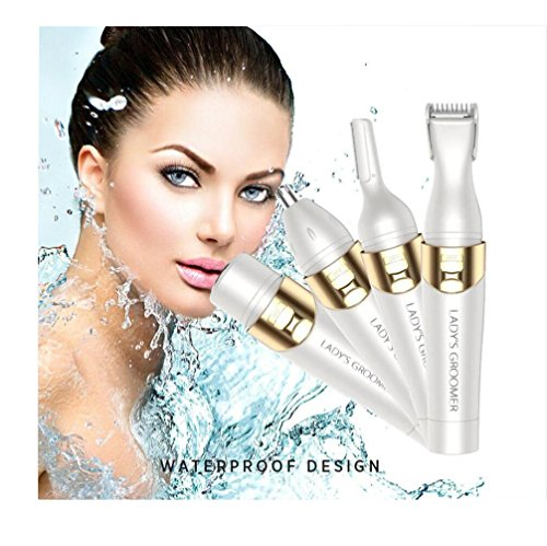 Eoncore 4 in 1 Body Shaver, Nose Hair Trimmer, Eyebrow Shaper, Facial Hair Removal for Women Painless Hair Removal Shaver Epilator Travel Size by Eoncore (Image #1)