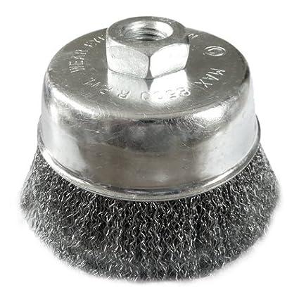100mm x M14 bore RauchoFlex Crimped Cup Wire Brush
