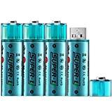 Best Usb Rechargeable Batteries - HOMEME 4packs USB Rechargeable AA Lithium-ion Batteries 1.5V/1000MAH Review