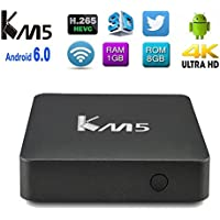 Edal KM5 Android 6.0 TV Box Amlogic S905X Quad Core 4K HD Player with Wifi 1G RAM 8G ROM TV BOX