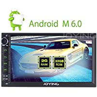 JOYING 2GB RAM Android 6.0 7 Aftermarket Car Stereo for Nissan Double 2 Din Indash GPS Navigation Radio Head Unit Car Receiver for Nissan Sentra/FronTier/Patrol/Pathfinder etc Support Bluetooth Wifi