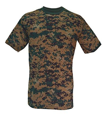 Army Navy Shop Adults Camouflage T-Shirt Woodland Digital Camo 2XL ()