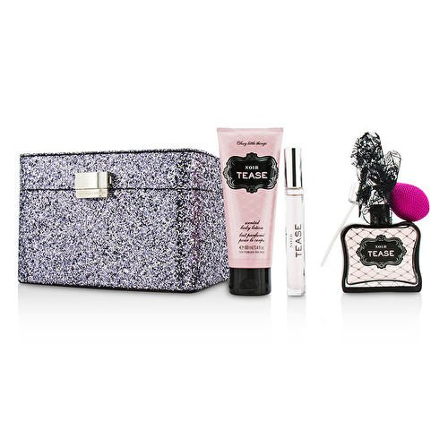 Victoria's Secret Sexy Little Things Noir Tease Coffret: EDP Spray 50ml/1.7oz + Body Lotion 100ml/3.4oz + EDP Rollerball 7ml/0.23oz + Case (Noir 1.7 Ounce Edp)
