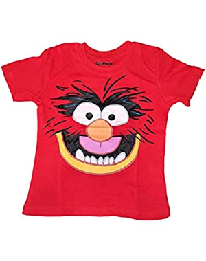 Muppets Baby Animal Jumping Tee Shirt Red Todllers Tee Shirt