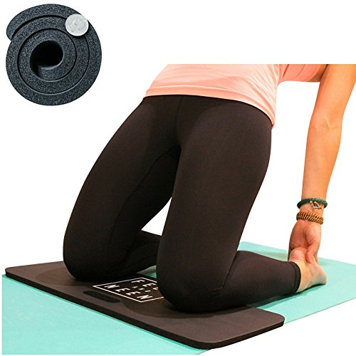 Yoga Knee Pad - 15mm Exercise Mat For Pain Free Joint Practice - Cushion for Yoga, Pilates, Barre, etc. - Fits Full Size Yoga Mat