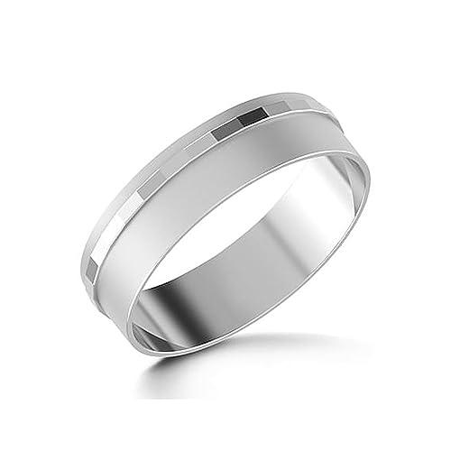 Anillos de boda para hombre 14 K oro blanco para hombre todos los tamaño I J K L M N O P Q R S T
