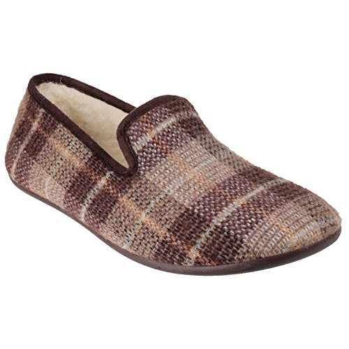 Cotswold Wallis klassische leichte Warmlined Mens Slip-On-Mule Pantoffel Blau