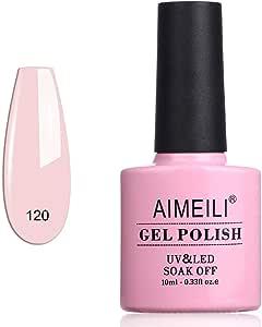 AIMEILI Soak Off UV LED Gel Nail Polish - Rosa Xhybrida (120) 10ml