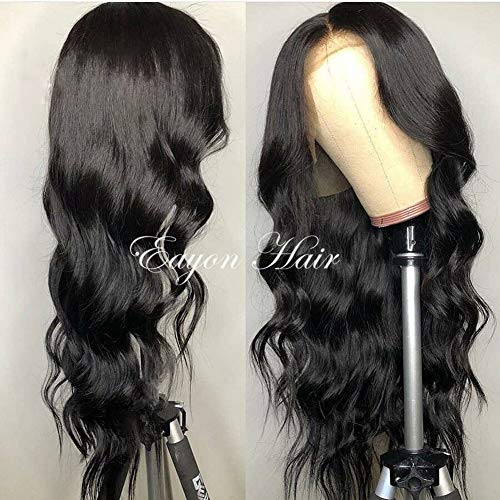 ed 360 Lace Frontal Wigs-Body Wave Full Frontal Lace Human Hair Wigs for Women Natural Hairline with Baby Hair Natural Color 150% Density 16inch ()