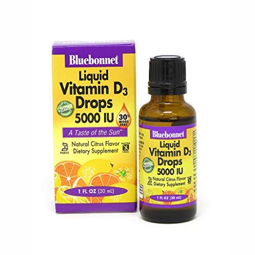Bluebonnet Earth Sweet Liquid Vitamin D3 5000 IU, 1 Ounce (Vitamin D3 5000 Iu Liquid)