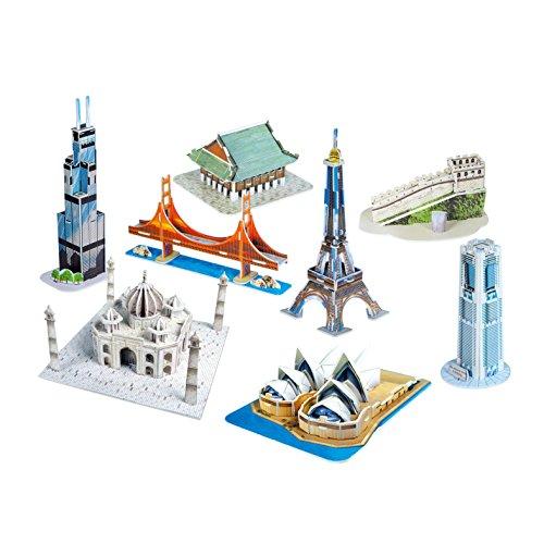 UPC 696749936320, Cubic Fun Mini Architecture Series 2, 144 Pieces