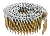 Interchange 16720 1-1/2-Inch x 0.092-Inch Full Round-Head Ring Shank Hot-Dipped Galvanized Wire Coil Siding Nails, 3600 Per Box