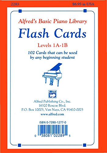 Piano 1a Basic Alfreds - Alfred's Basic Piano Library: Flash Cards, Levels 1A and 1B