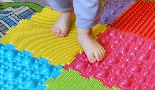 Orthopedic massage puzzle floor mats Sea & Ocean (carpet) for babies and kids