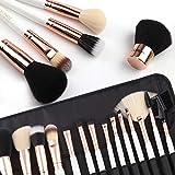 ZOREYA Makeup Brushes Premium Luxury 15pc Rose...