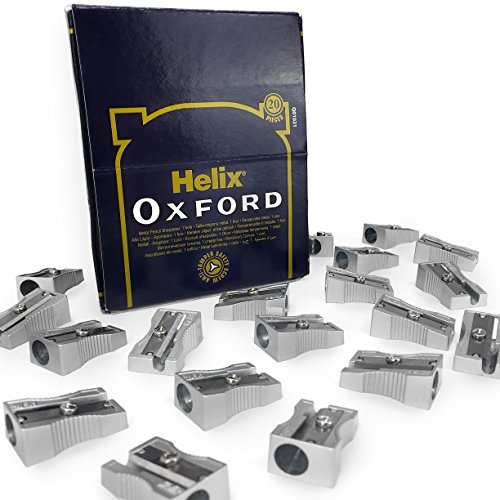 Helix Oxford Metal Pencil Sharpeners – Single Hole – Display Pack of (Single Hole Sharpener)