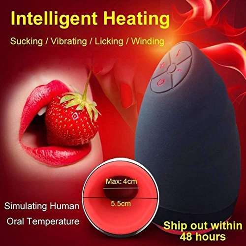 Male Masturbator Vibrating Pocket Pussy with Automatic Heating Function Waterproof Oral Masturbation Cup Adult SexToy Super Vibrator by yunyang (Image #5)