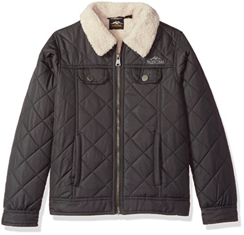 (Pacific Trail Big Boys' Quilted Jacket, Grey, 18/20)
