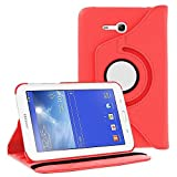 "360 Degree Rotating Case Cover w/ Stand for Samsung Galaxy Tab 3 7"" LITE T110 (Red)"