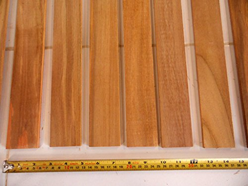(1/4 inch thick (0.25 inches) x 2 inch wide QUARTERSAWN teak for boat decking)