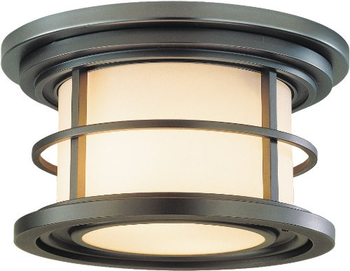 Murray Feiss Bronze Ceiling Light - Feiss OL2213BB-LED Lighthouse LED Outdoor Flush Mount Ceiling Lighting, Bronze, 2-Light (10