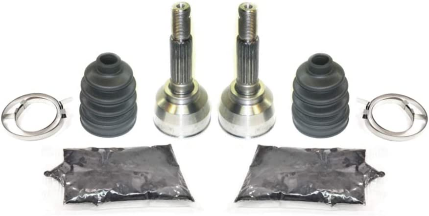 1987-1992 QuadRunner 250 Fits 2002-2007 Eiger 400 1991-2002 King Quad 300 2002 Vinson 500 2000-2001 Quadmaster 500 ATV Parts Connection Pair of Front Axle Outer CV Joint and Boot Kits for Suzuki ATV