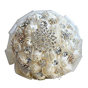 Snowskite Wedding Flowers Bridal Bouquets Elegant Pearl Bride Bridesmaid Wedding Bouquet Crystal Sparkle 106