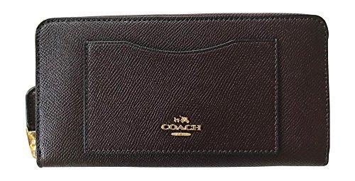 Coach Crossgrain Leather Accordian Zip Wallet, Oxblood 1