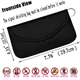 Best Faraday Bag,100% Anti-Spying Anti-Tracking GPS RFID Signal Blocker Bag for Cell Phone Privacy Protection and Car Key FOB, Healthy Handset Privacy Protection Travel & Data