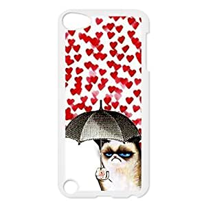 Cute Grumpy Cat Protective Hard PC Back Fits Cover Case for iPod Touch 5, 5G (5th Generation)