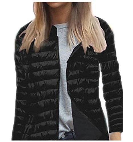 Long Lightweight Ultralight Down Black Sleeve Women's Jacket Casual EKU S6gxqw7Bq