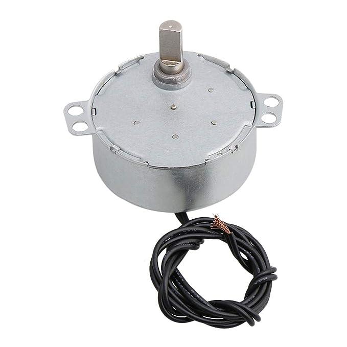 CNBTR Synchronous Motor CW//CCW V/ástago plano no direccional AC 220 V 0,8-1 RPM Velocidad 12 KGF.cm Ventilador Aire Acondicionado DIY