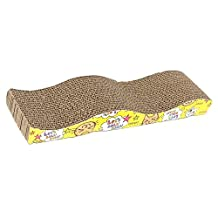 Cat Claws Care Toy - SODIAL(R) Cat Kitten Corrugated Scratch Board Pad Scratcher Bed Mat Claws Care