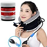 No1 Neck Traction Device + Washable Cover + Muscle Pain Relief Balm, CHISOFT (3rd Edition) Cervical Unit 3 Layer Neck Collar