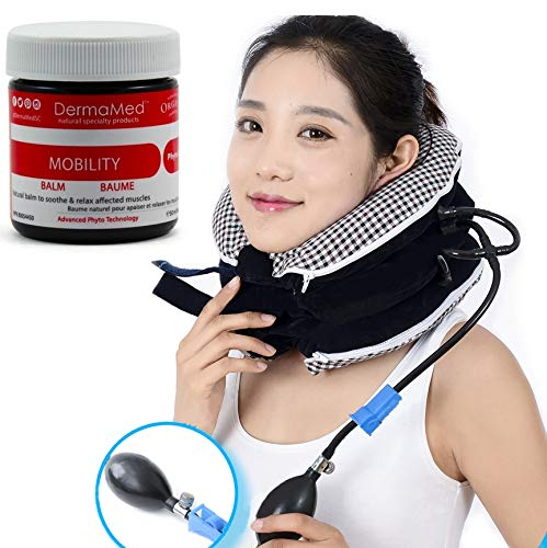 No1 Neck Traction Device + Washable Cover + Muscle Pain Relief Balm, CHISOFT (3rd Edition) Cervical Unit 3 Layer Neck Collar by CHISOFT (Image #5)